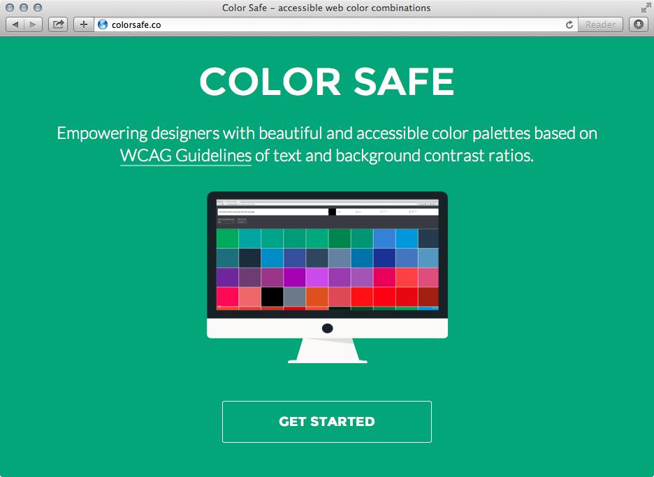 ColorSafe.co lets you grab colours that pass accessible contrast ratios