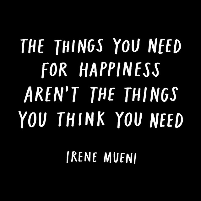 The things you think you need