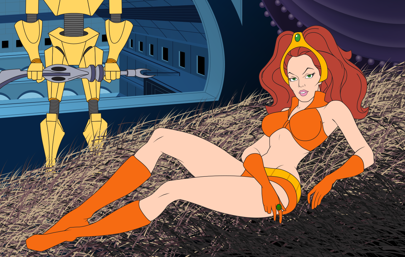 Princess Aura, from the Flash Gordon cartoons, was an almost indecent obsession for boys around the world with TV sets in the 80s