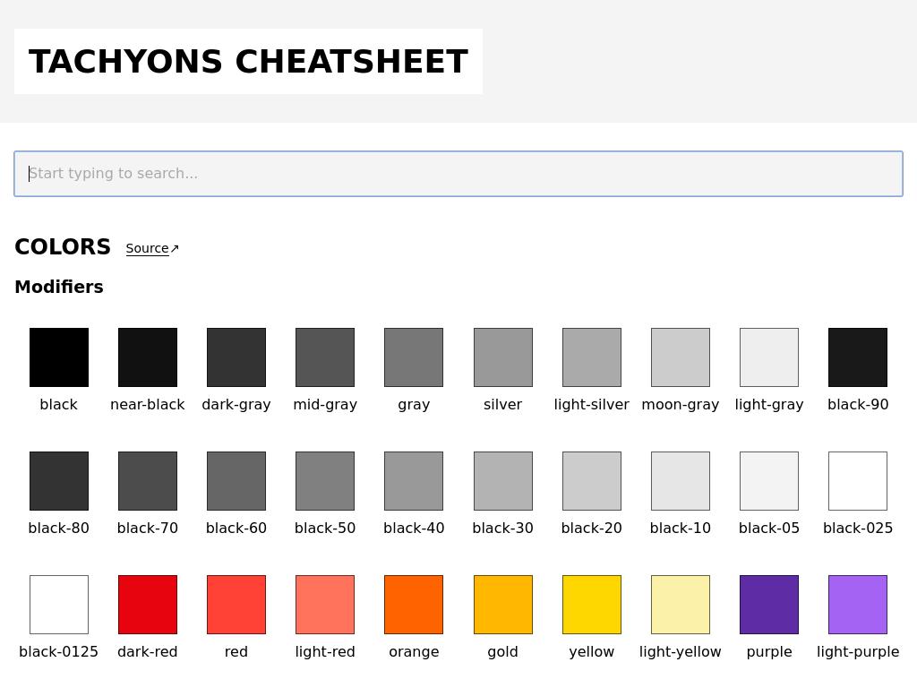 Cheat sheet for Tachyons