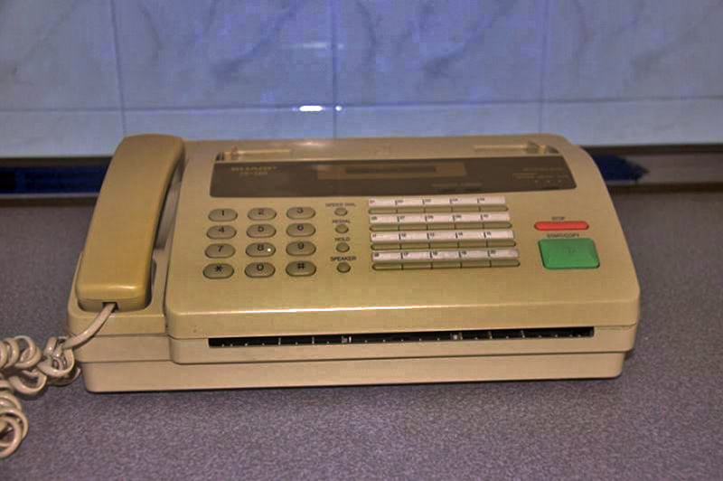 My dad used one of these Sharp fax machines in the '90s