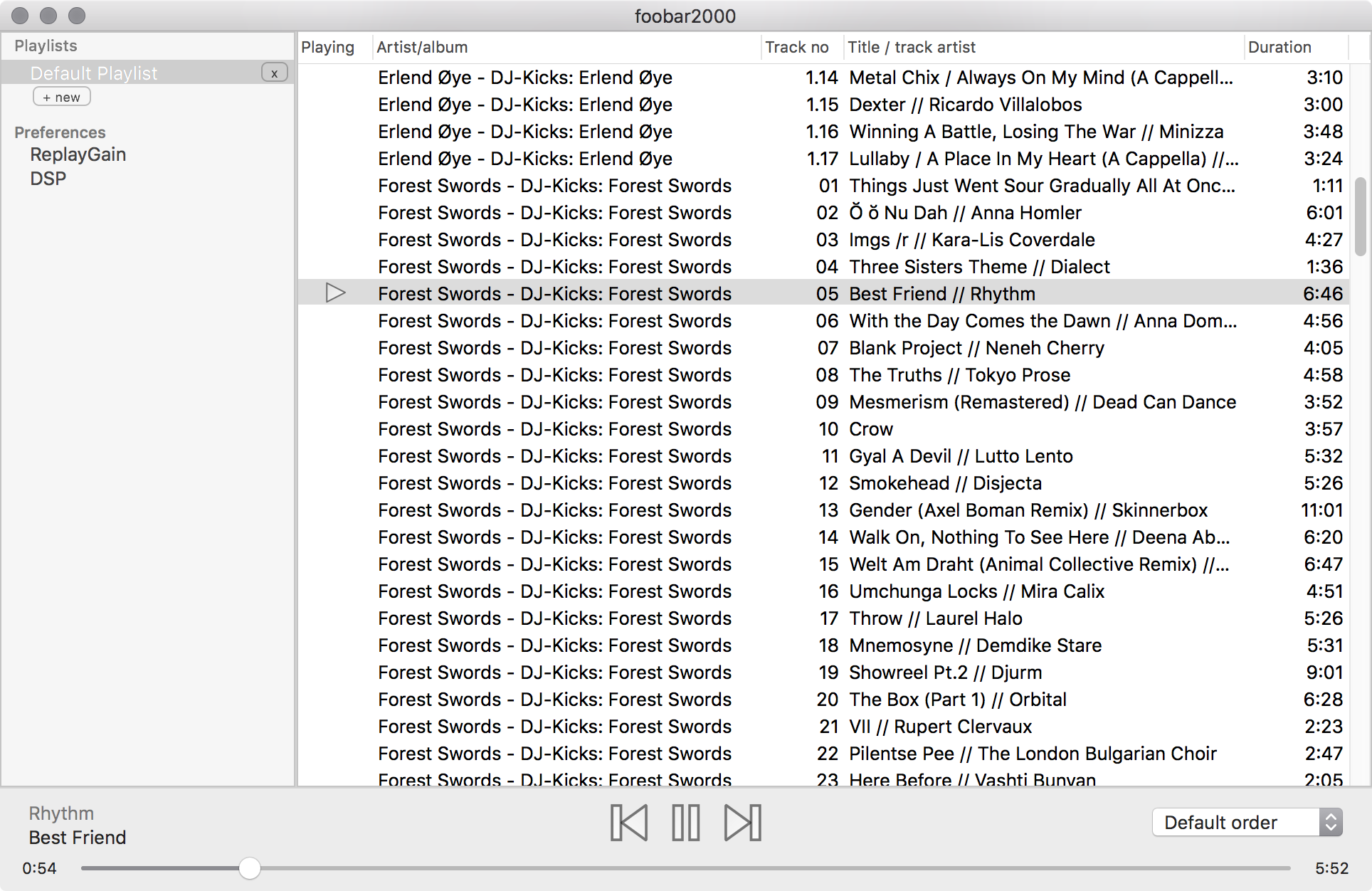 That foobar2000 for Mac is incomplete should be no surprise